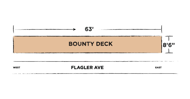 bountybar deck at flagler tavern