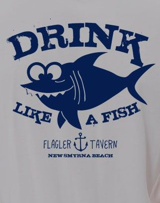 Photo of Grey and Navy Print T-Shirt with Fish Design