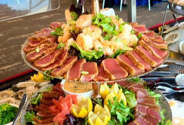 Offsite Catering Seared Tuna Tower